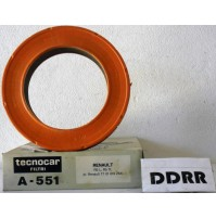 FILTRO ARIA A551 FILTRO ARIA (AIR FILTER) RENAULT 5 L-TL TECNOCAR