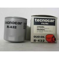 FILTRO OLIO CITROEN VISA 1124-PEUGEOT 104- 304-305 TECNOCAR R 432