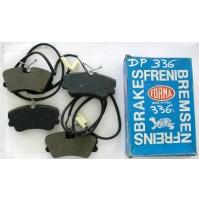 SERIE PASTICCHE FRENO(BRAKE-PADS) ANTERIORI ALFA 33 1.7 4WD 86-90 DP 336