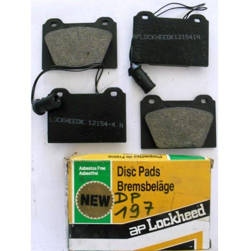 SERIE PASTICCHE FRENO(BRAKE-PADS) ANTERIORI AUSTIN METRO 1.0-1.3 AP LOKEED DP197