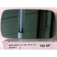 SPECCHIETTO RETROVISORE SPECCHIO VETRO PER BMW SERIE 3 5 7 DAL 1988 A 2004 100SP